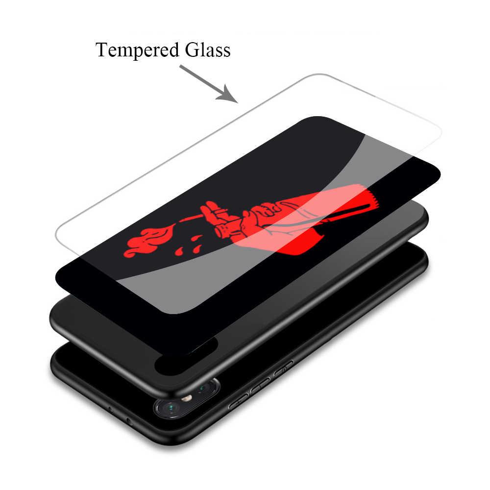 Funda suave de cristal templado para Huawei Honor 8x9 Mate 20 P10 P20 P30 funda inteligente Lite Pro P