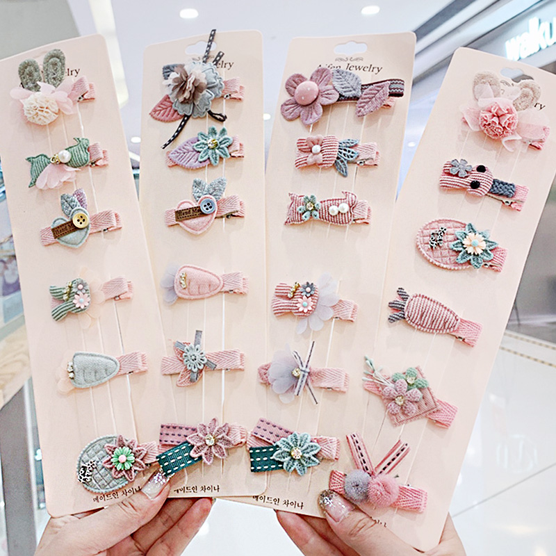 1Set New Girls Cute Cartoon Hairpins Children Lovely Hair Ornament Headband Hair Clips Barrettes Kids Fashion Hair Accessories