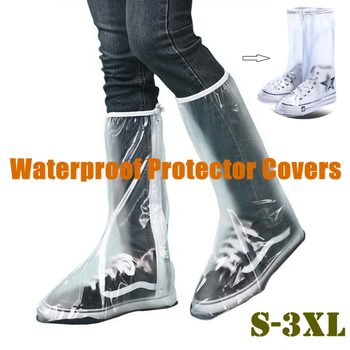 Hot Sale Fashion Waterproof Rain Shoe Cover for Men Women Shoes Disposable Protector Boot Covers Overshoes Travel Equipment