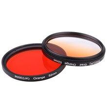 Фильтр для камеры 49 мм полный оранжевый градиентный оранжевый фильтр для объектива Nikon D3100 D3200 D5100 SLR