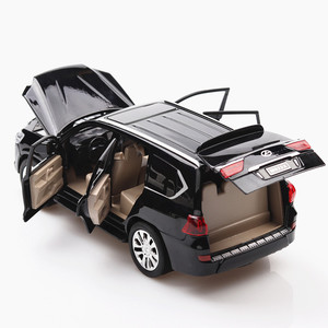 Image 4 - 1:24 Diecast Lexus lx570 Off road pojazdu Suv symulacja aluminiowy Model samochodu 6 drzwi dźwięk światło samochód z napędem Pull Back zabawki dla dzieci ozdoby