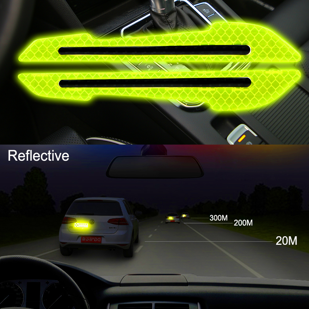 Car Reflector Sticker Car Exterior Accessories Anti-collision Sticker Safety-Warning Sign Decals 2Pcs RearView Mirror Sticker
