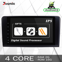 2 Din Android 9.0 Car Radio For Mercedes Benz ML W164 ML350 ML500 X164 GL320 GL Multimedia GPS Navigation Head unit Stereo Audio