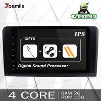 2 Din Android 9.0 Car Radio For Mercedes Benz ML W164 ML350 ML500 X164 GL320 GL Multimedia GPS Navigation Head unit Stereo Audio