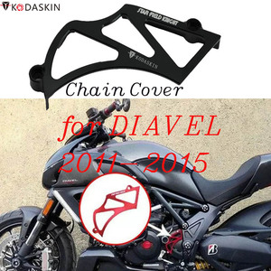 KODASKIN łańcuch motocyklowy pokrywa dla Ducati DIAVEL 2011-2015 akcesoria