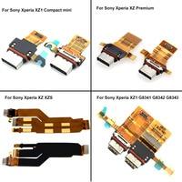 Porta de carregamento usb para sony xperia xz xzs xz premium xz1 xz1 compacto mini carregador doca soquete conector porta usb cabo flexível