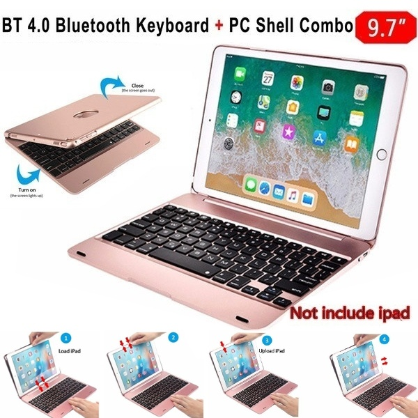 Slim Wireless Bluetooth Keyboard Foldable Stand Case Full Protective ABS Cover For IPad Air1 Air2 Pro 9.7 IPad 2017 2018 9.7