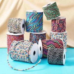 Image 2 - 50yards/roll 4/6mm Rope Cloth Ethnic Cords Ropes Thread For DIY Jewelry Making Necklaces Bracelets Crafts Supplies Handmade