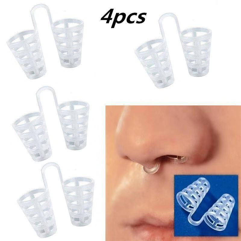 4PCS/Box Anti Snoring Stop Snore Silicone Magnetic Anti Snoring Nose Breathing Antisnoring Device For Sleeping Aid Apnea