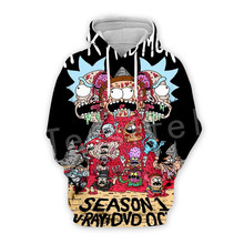 Tessffel Anime Rick and Morty New Fashion Funny Colorful Cartoon Tracksuit 3DPrint Hoodie/Sweatshirt/Jacket/shirts Men Women s13