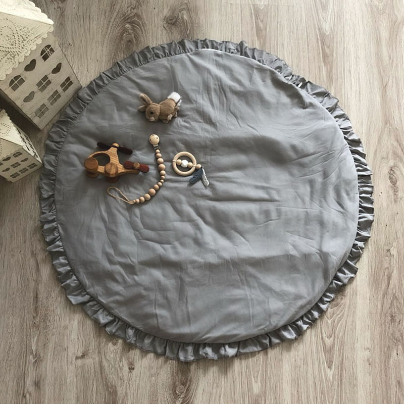 Hce41bf1bbd9f407fb7aefa88327dba0bV Nordic Newborn Baby Padded Play Mats Soft Cotton Crawling Mat Girls Game Rugs Round Floor Carpet For Kids Interior Room Decor