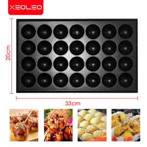 Image 4 - XEOLEO Double plates Gas Fish ball machine LPG Takoyaki ball Grill machine Commercial Octopus ball furnace