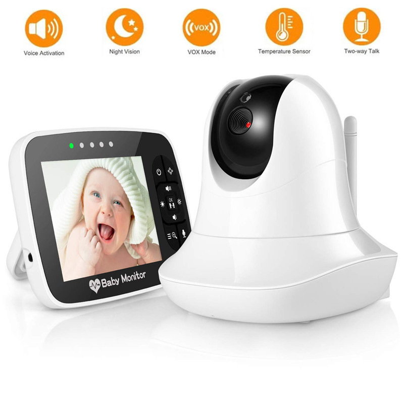3.5 Inch Video Baby Monitor Portable HD Wireless Smart Baby Camera Infared Night Vision Video Monitor Remote Pan Tilt And Zoom