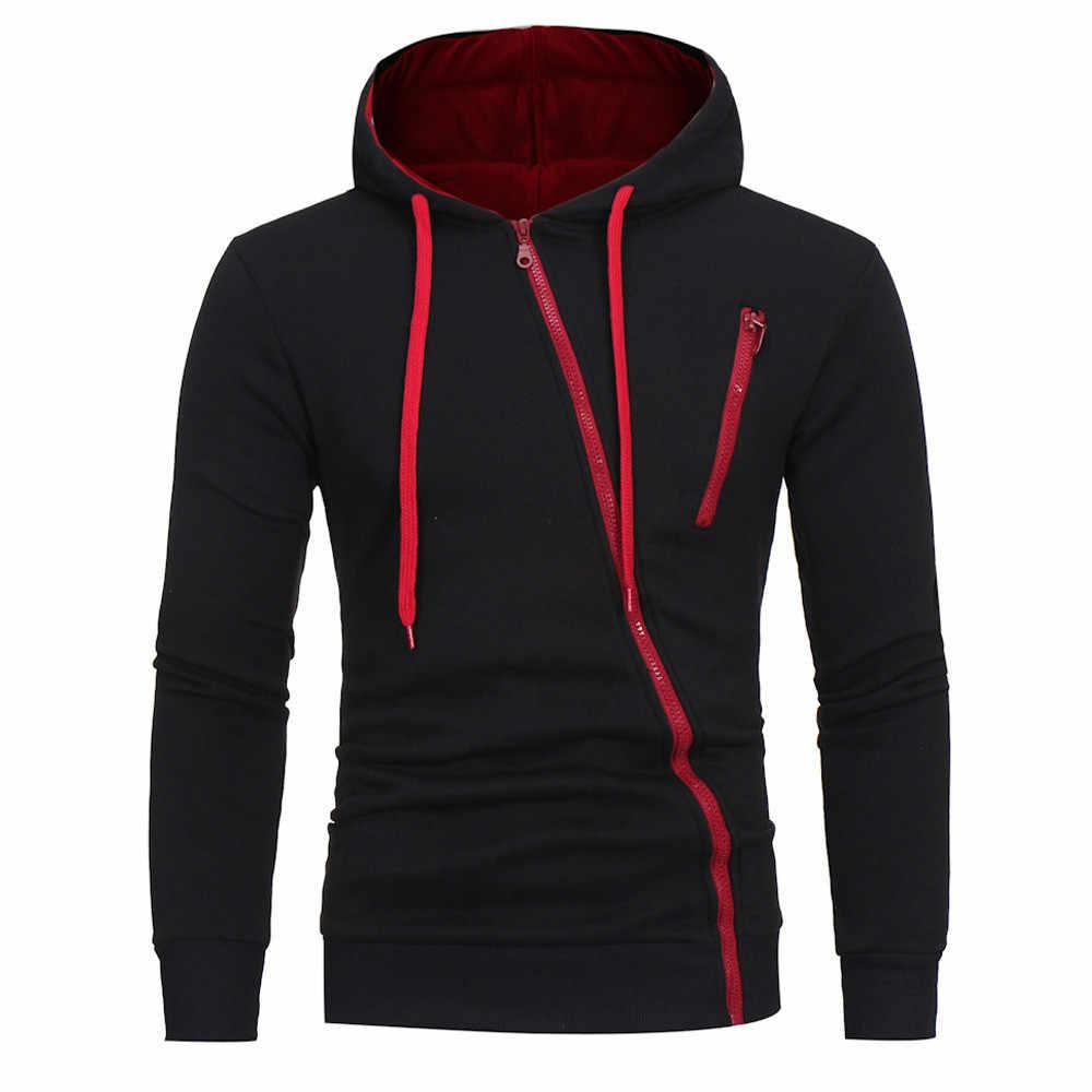 Oversized Heren Hoodies Winter 2020 Hooded Hoody Streetwear Zwart Ritsen Lange Mouwen Mannen Sweater Casual Een Stuk Hoodie Mannen