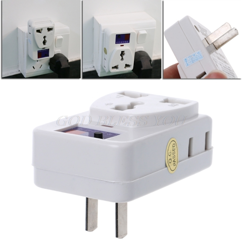 New High quality AC Power Energy Saving IR Infrared <font><b>Wireless</b></font> <font><b>Remote</b></font> Control Outlet Switch <font><b>Socket</b></font> Drop Shipping image