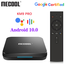 MECOOL KM9 Pro Google Certified Androidtv Android10.0 4GB 32GB Amlogic S905X2 9.0 KM3 ATV 4GB 64GB 4K Dual Wifi Smart TV box