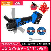 PROSTORMER Cordless Angle Grinder 20V Lithium Ion 4000mAh Grinding Machine Cutting Electric Angle Grinder Grinding Power Tool