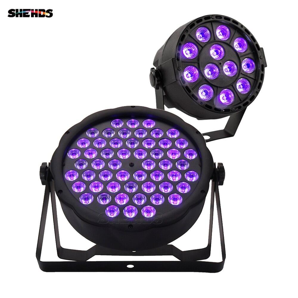 1 sztuk Led lampa Par 54x3W DJ Par ultrafioletowe 7x3W umyć światło dyskotekowe 12x3W UV Mini Led oświetlenie punktowe 6W Pary wydarzenie efekt sceniczny