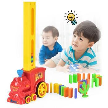 1 pociąg + 60 sztuk Domino Rally elektroniczny model pociągu Kid edukacyjne zabawki dziewczyna chłopiec dziecko świąteczny prezent darmowawysyłka tanie i dobre opinie Train toy Transport 8 ~ 13 Lat Urodzenia ~ 24 Miesięcy 14Y 2-4 lat 5-7 lat Dorośli Z tworzywa sztucznego as show Baby Child Baby Children Toddler