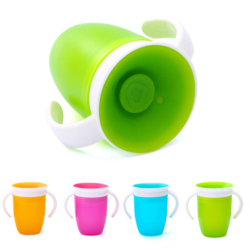 Learning-Drinking-Cup Bottle Water-Cups Infants Double-Handle Bpa-Free Baby Leakproof