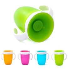 360 graus podem ser girados bebê aprendendo beber copo com dupla alça flip tampa leakproof crianças copos de água garrafa bpa livre