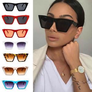 Square Sunglasses Colorful Womens Fashion Shades Personalized Brand UV400 Cat-Eye High-Quality