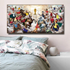 Abstract Football War Painting Printed on Canvas 1