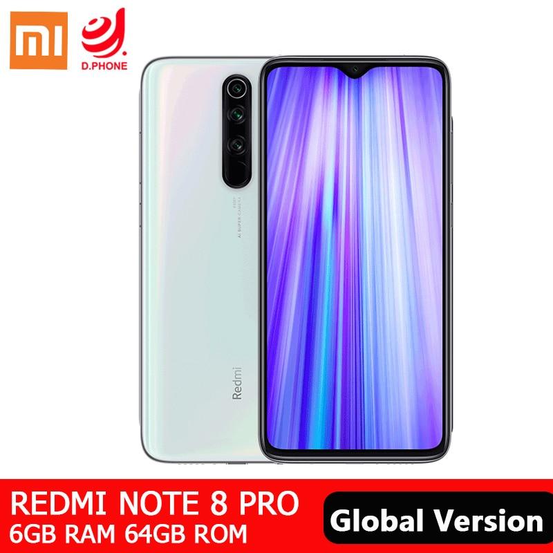 Global Version Xiaomi Redmi Note 8 Pro 6GB 64GB Smartphone 64MP Quad Camera NFC Mobile Phone MTK Helio G90T Octa Core 4500mAh