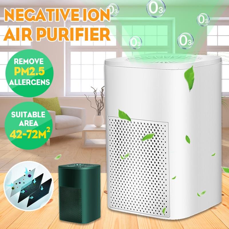 Hepa purificador de ar ionizador gerador desinfetante usb casa purificador de ar remover formaldeído pm2.5 fumaça odor alergias animais de estimação cabelo