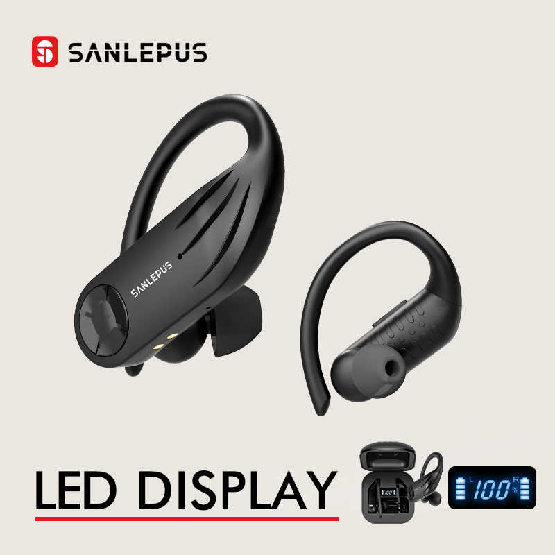SANLEPUS Bluetooth Earphone Led Display Wireless Headphones TWS 5.0 Stereo Earbuds With Mic Waterproof Noise Cancelling Headset