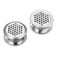 20/50/100pcs Steel Double-sided Shoe Cabinet Adjustment Air Vent Cover Furniture Air Vent Plug Louver Ventilator Grille Cover