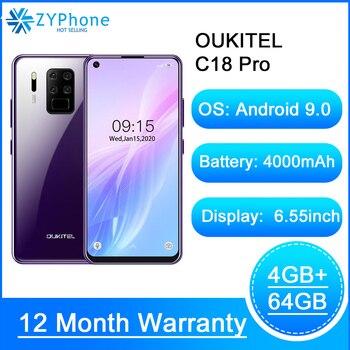 Перейти на Алиэкспресс и купить Смартфон OUKITEL C18 Pro на Android 2020, восемь ядер, экран 6,55 дюйма, 4 Гб + 64 ГБ