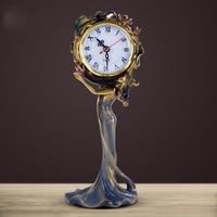 Classical goddess retro home desk clock Beautiful girl living room decorating clock