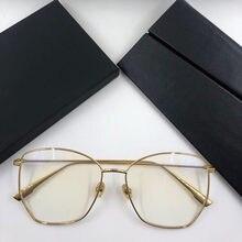 Gafas graduadas con montura de marca coreana para hombre y mujer, Lentes de moda para miopía, de Metal, Lentes ópticas, 2021