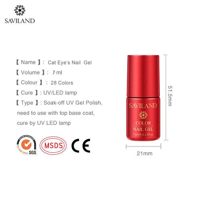 SAVILAND Cat Eyes UV Gel Soap Foam Bubble Nails 28 Colors Soak Off Gel Varnish Hybrid Semi-Permanent for Nails Need primer 5