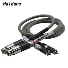 Haldane Pair Single Crystal Silver Nordost Odin RCA to XLR Balanced Reference Interconnect Cable with HIFI Rhodium plated Plug free shipping ks 1011 xlr audio interconnect cable with rhodium plated xlr plug