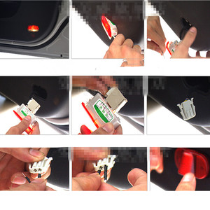 Image 5 - 2 X LED Car Door Courtesy Laser Decoration Logo Projector Ghost Shadow Light Accessories For SEAT FR Alhambra Leon MK1 2005 2006
