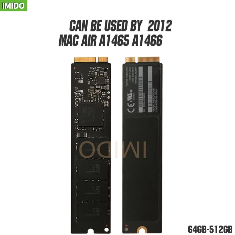 Original 2012 Early Mid Macbook Air A1466 A1465 64GB 128GB 256GB  SSD Md231 Md232 Md223 Md224 128G Mac SOLID STATE DISK 128GMFP