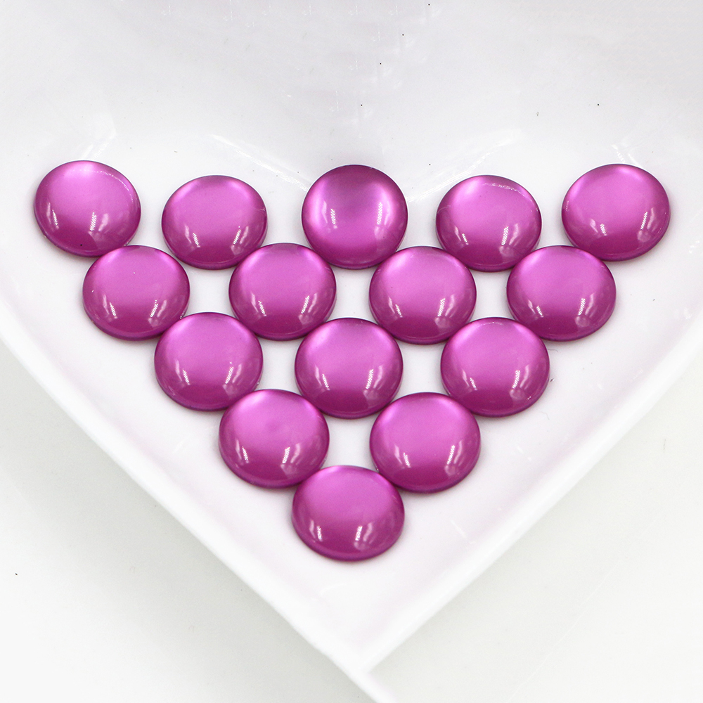 New Fashion 40pcs 12mm Purple Color Flat Back Resin Cabochons Cameo  G7-27