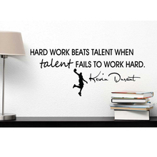 YOYOYUHard work beats talent when fails to hard Kevin Durant inspired Vinyl Wall Decal J009