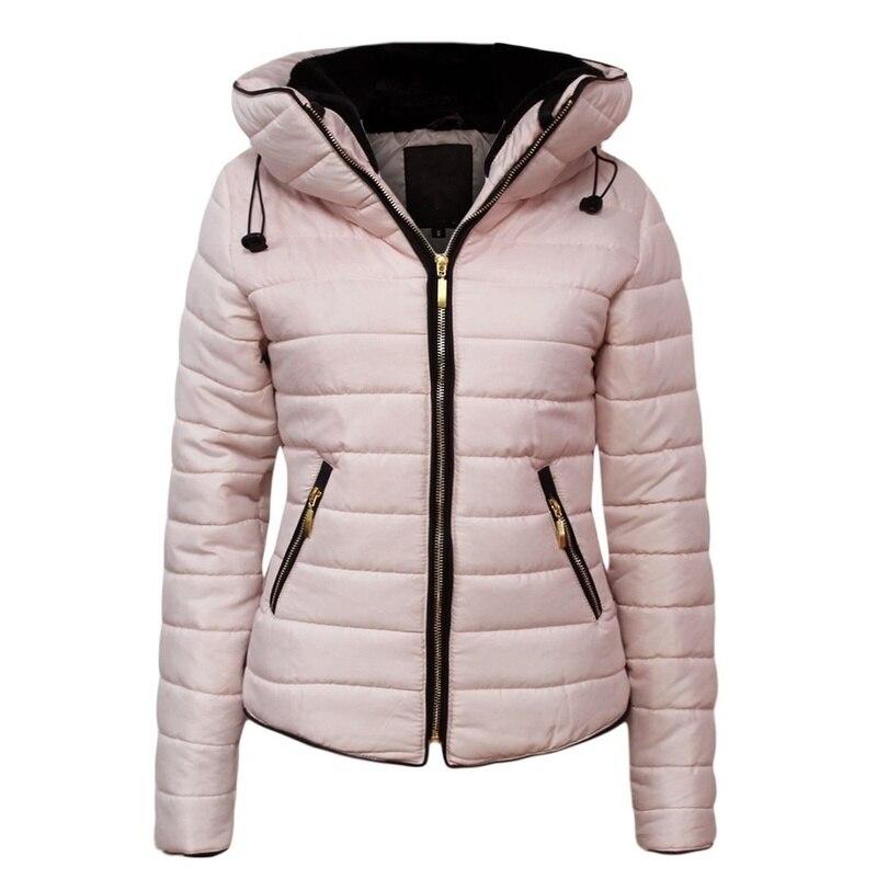 Женская парка с капюшоном ZOGAA, зимнее теплое пальто-пуховик с капюшоном, повседневное облегающее однотонное короткое пальто, женские пальто...