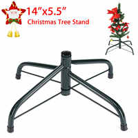 4 Feets Christmas Tree Stand Green Metal Holder Base Cast Iron Stand Decorations Christmas Home Decorations Party Supplies
