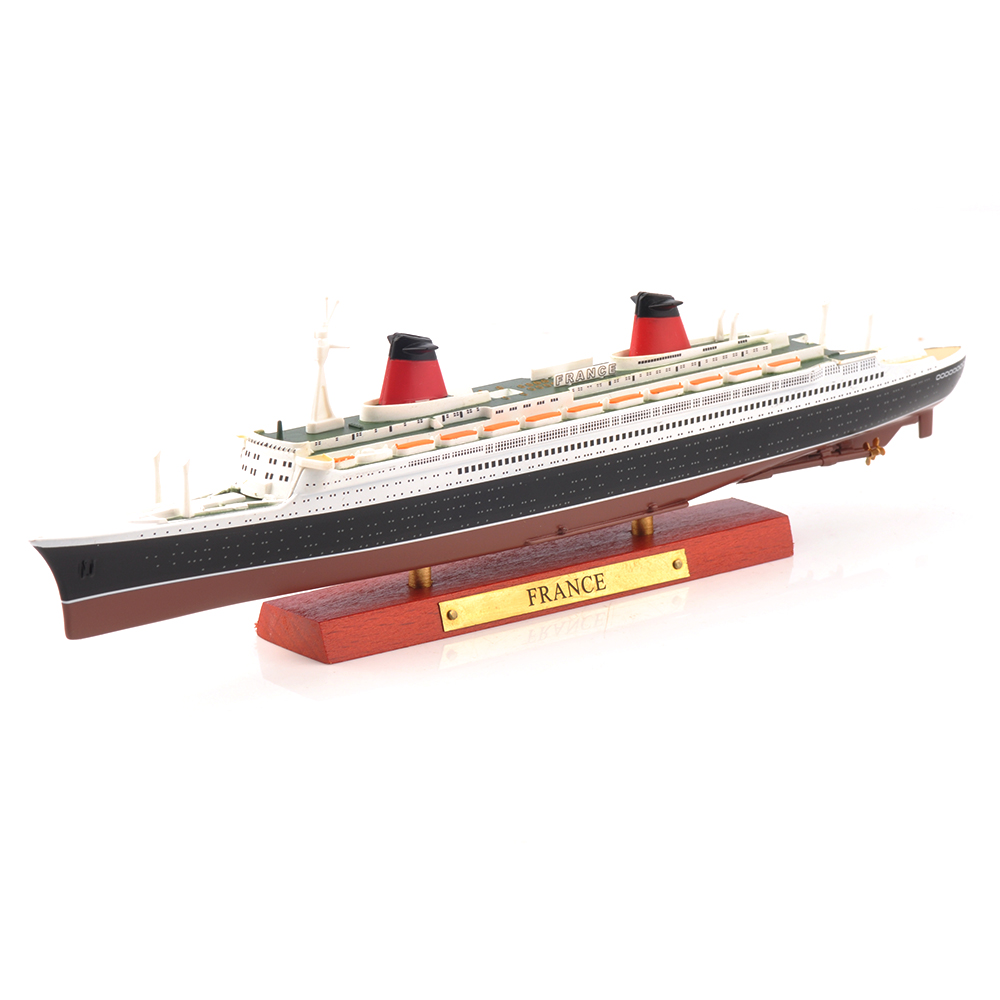 Kid Toys 1/1250 Scale Diecast SS France Hospital Ship Ocean Liner Steamship Display Cruise Ship Vehicle Model Collection Gift