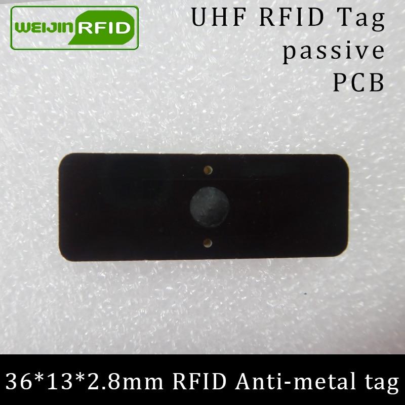 UHF tag anti-metal RFID 915mhz 868mhz Alienígena Higgs3 EPCC1G2 6C 36*13*2.8mm pequeno retângulo PCB etiquetas passivas RFID cartão inteligente