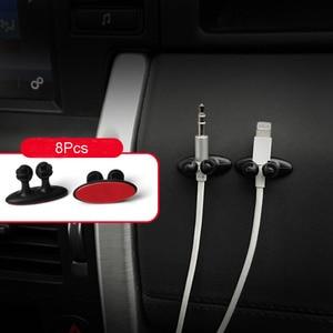 8Pcs Car Wire Tie Clip Fixer Organizer sticker for ford focus mk2 vw polo clio 4 kia sportage fiat freemont 500l audi a4 suzuki(China)