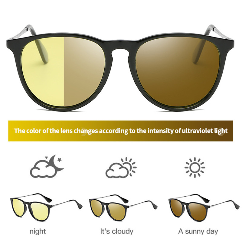 Cat Eye Night Vision Glasses Polarized Vision Nocturna Yellow Lens Sunglasses Men Women Driving Night Vision Goggles For Car