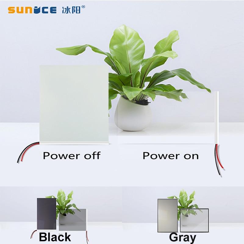 Sunice switchable elétrico branco/preto/cinza opaco esparadrapo pdlc amostra de teste inteligente da porta da janela do filme para a tela de projeção traseira