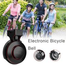 Rechargeable Waterproof Portable Electronic Bicycle Horn Loud Volume Cycling Handlebar Electric Bike Ring Mini Alarm Bells bicycle bike handlebar ball air horn trumpet ring bell loudspeaker noise maker free shipping