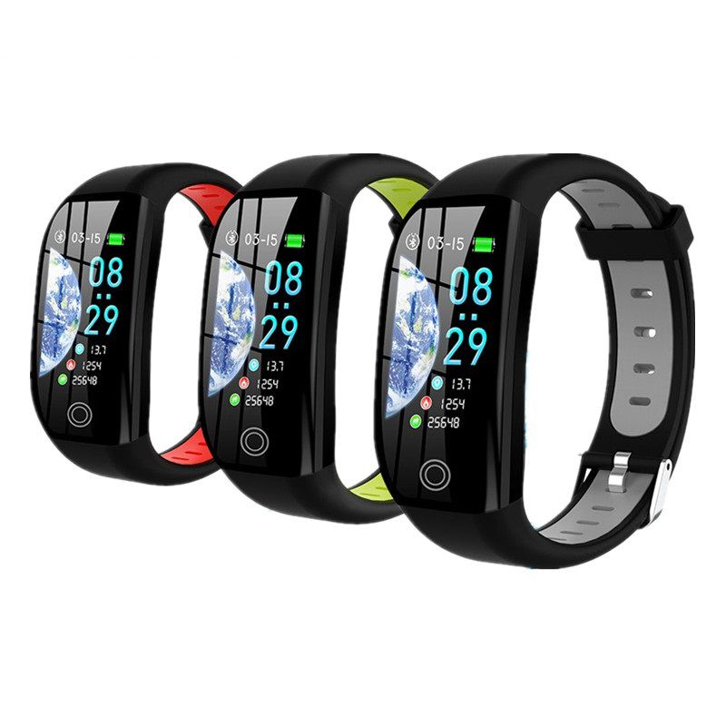 Pedometer Sport-Wristband Smart Bracelet Blood-Pressure-Watch Cardio F21 Heart-Rate Calorie title=