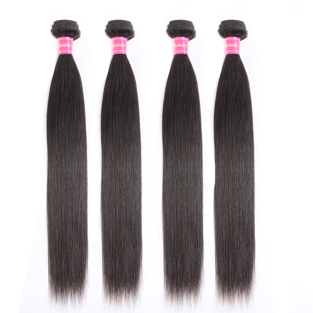 Jessenia Human Hair Bundles Malaysia Hair Straight Weave 4 Bundles Deal 8-26 Inches 100% Remy Human Hair Weave Extensions
